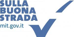 Logo sulla buona strada bianco